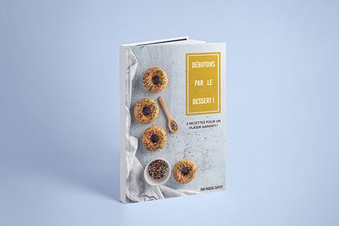 Zoom sur la couverture du livre de recette